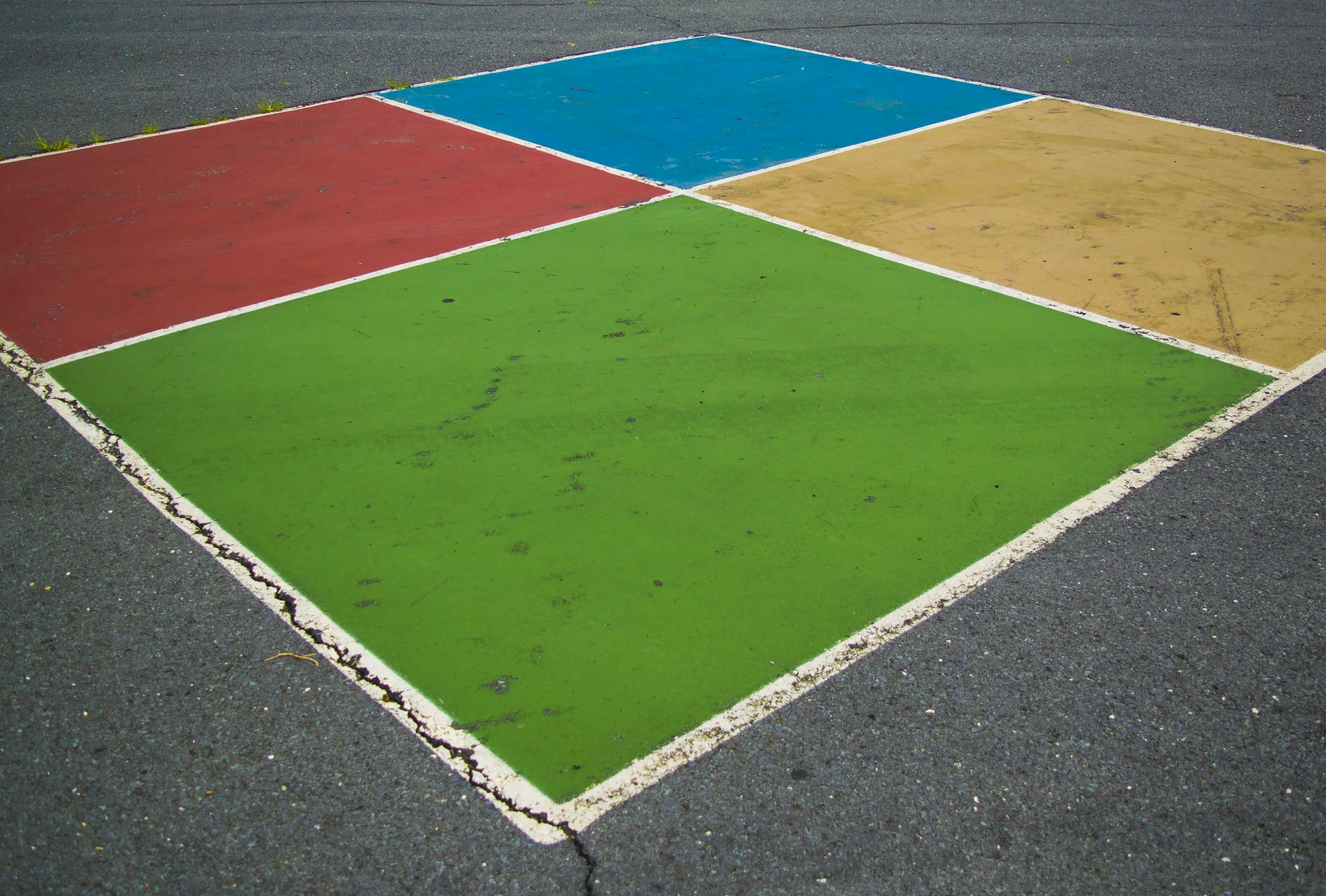 outdoor play - four square - team building